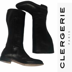 Robert Clergerie for Barneys Bl Leather Ridng Boot